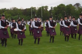 Preston Lodge High School Pipe Band - Dunbar 2014