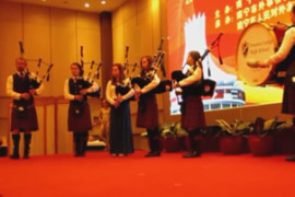 Preston Lodge High School Pipe Band in China 2013